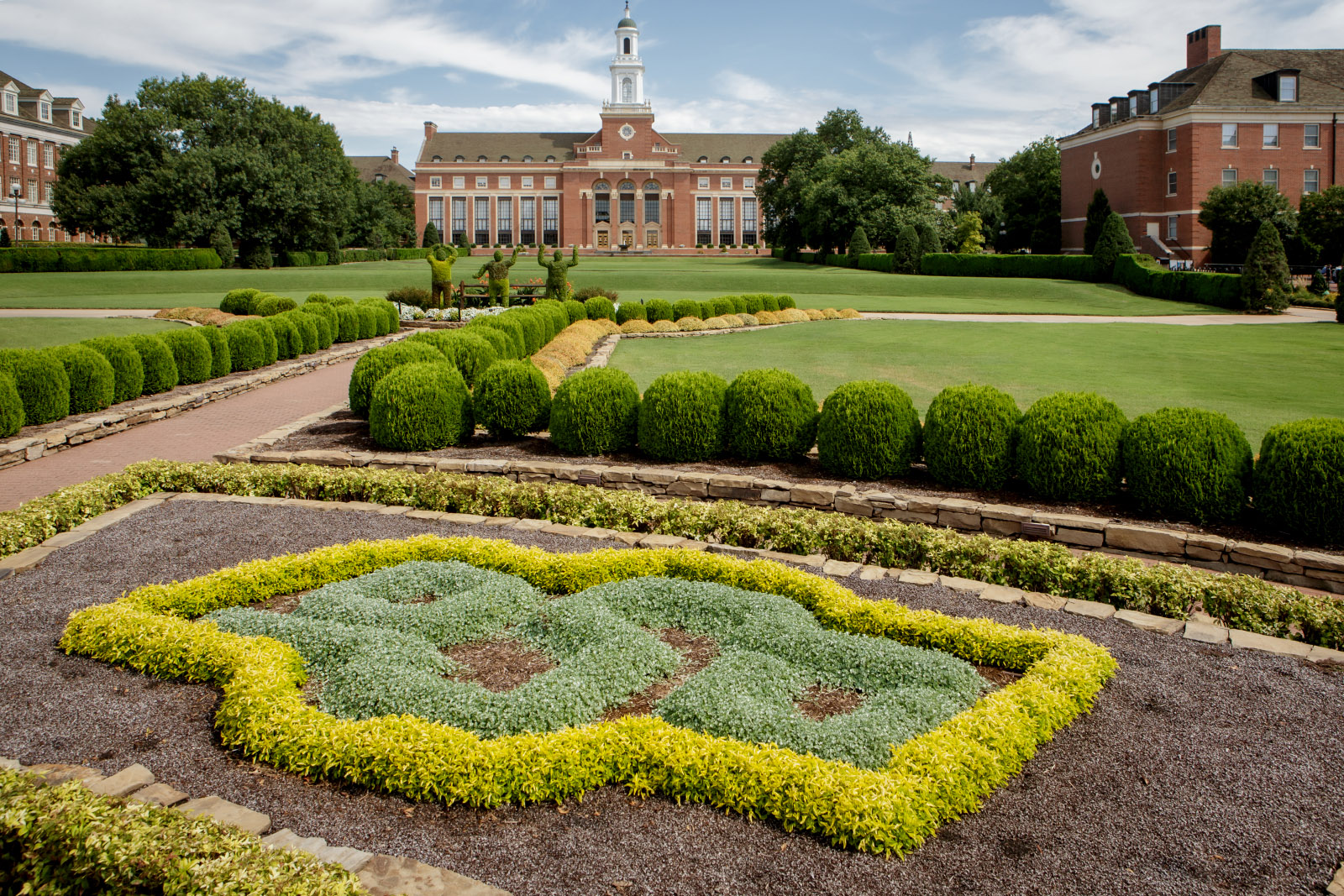 OSU formal garden flowers